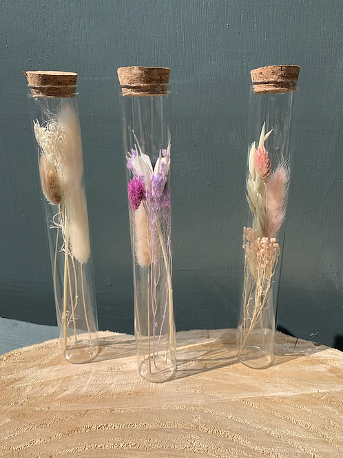 Dried Flower Test Tubes
