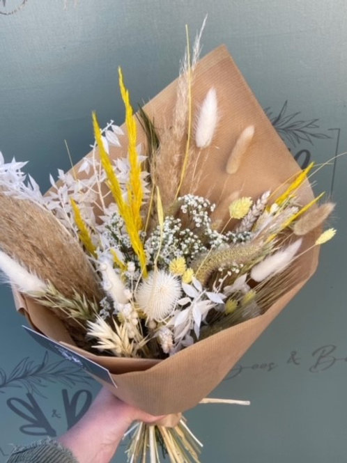 Dried Yellow and Natural Bouquet - Multiple size/price options