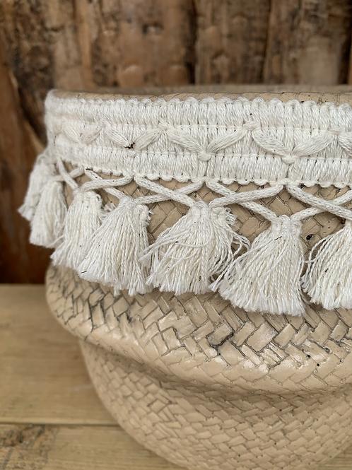 Basket Planter with tassels