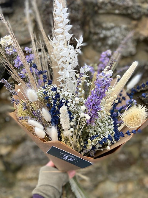 Dried Purple, Blue and Natural Bouquet - Multiple size/price options