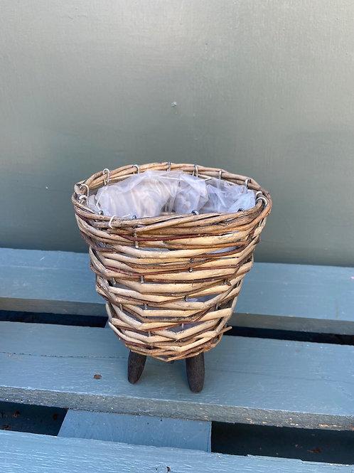 Wicker Basket Table Planter