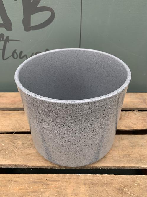 Grey Stein Pot