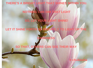 CHOOSE TO LET YOUR LIGHT SHINE!