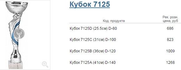 Кубок 7125