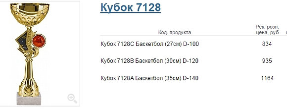 Кубок 7128