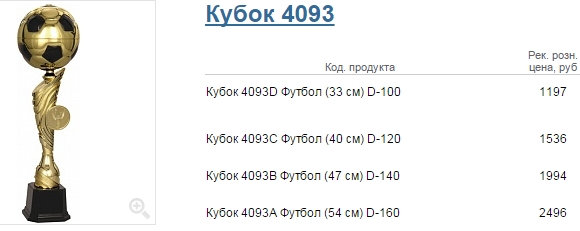 Кубок 4093