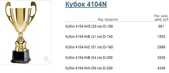 Кубок 4104N