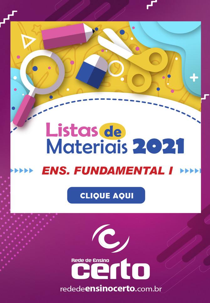 LISTAS DE MATERIAIS 2021 - Ensino Fundamental I