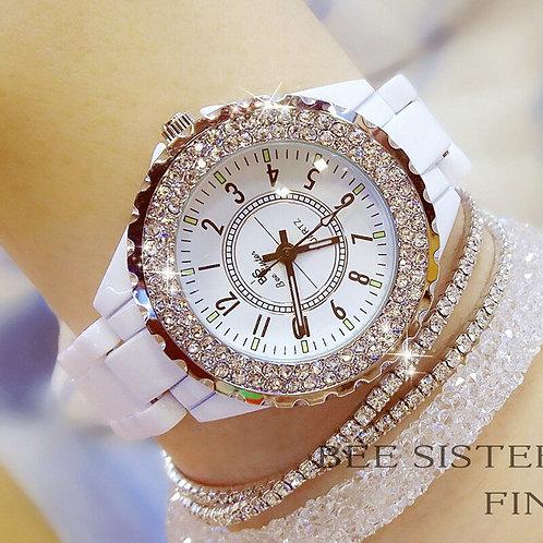 Ceramic White Watch Women Luxury