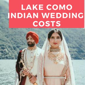Lake Como Indian Wedding Cost
