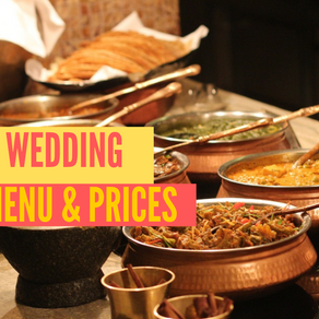 Indian Wedding Buffet Prices & Sample Menu