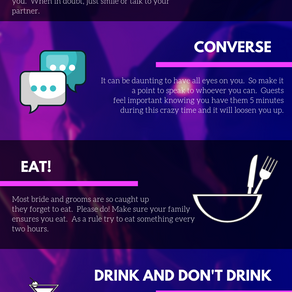 How to Enjoy your Wedding (Infographic)