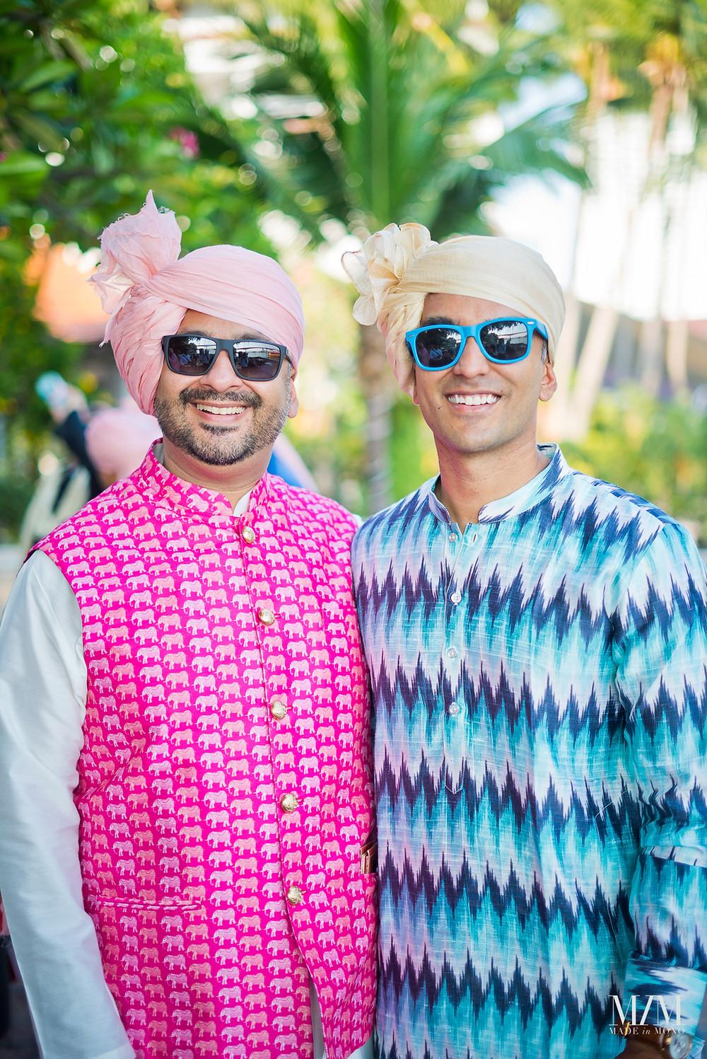 Indian wedding attire men.