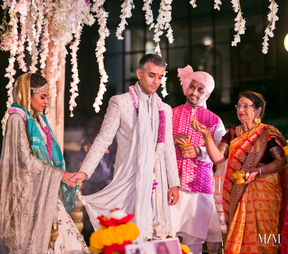 walking around fire indian wedding custom usa