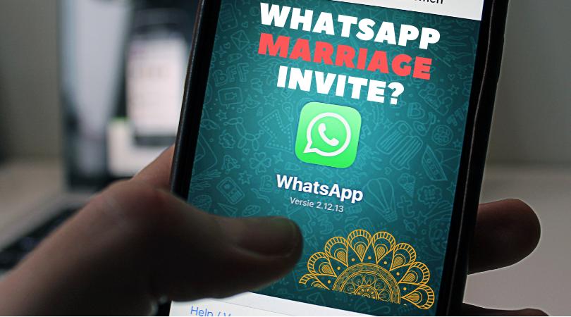 are WhatsApp marriage invites ok to send?
