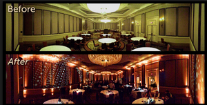 Indian Wedding Ballroom before and after.