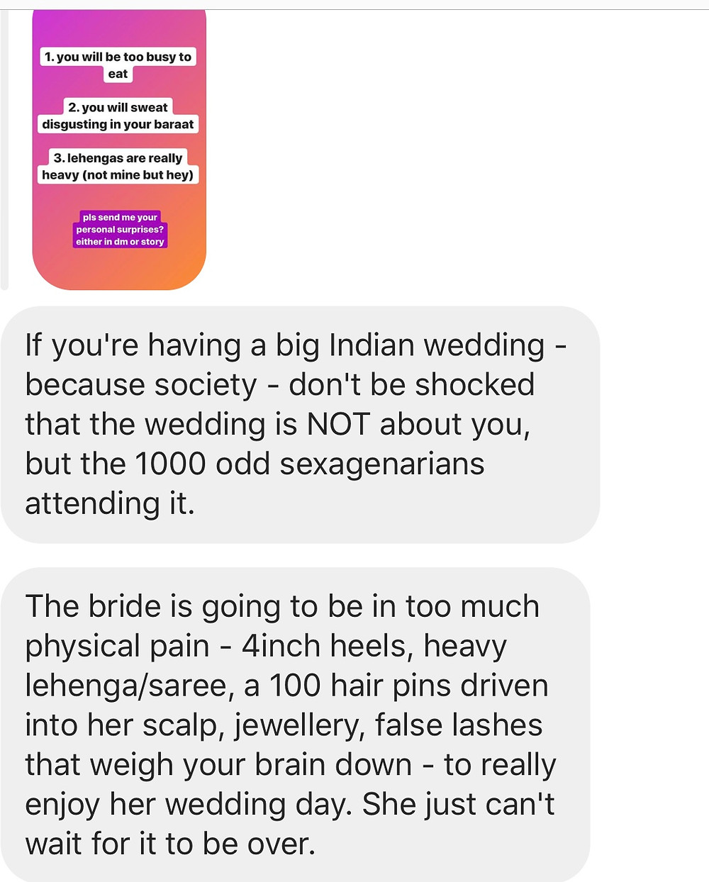 indian wedding stress heavy lehenga