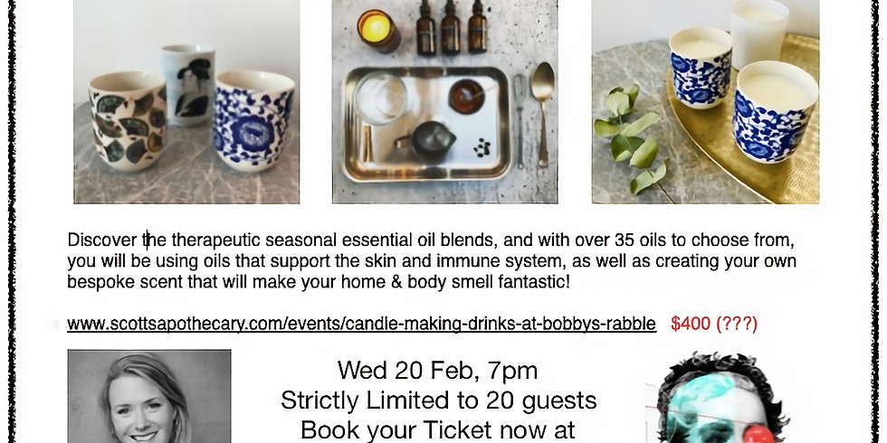 Candle making & drinks at Bobby's Rabble (1)