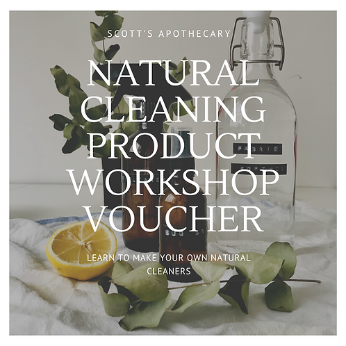 Natural Household cleaners Workshop Gift Voucher
