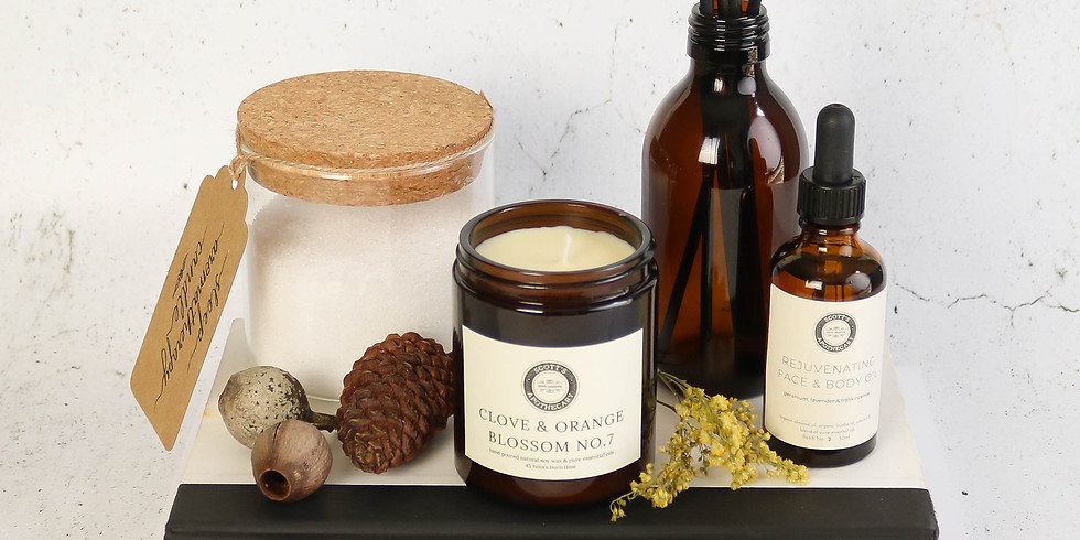 Natural Christmas Present making: incl: candle, bath salts, diffuser  & gift wrapping £70