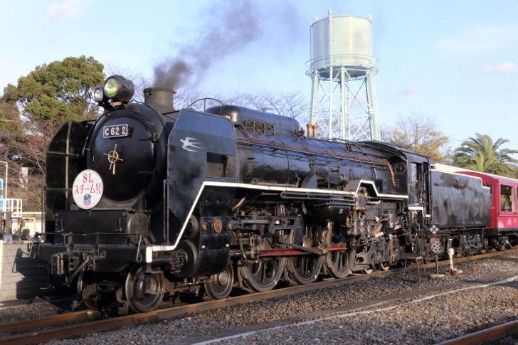 日本にある蒸気機関車