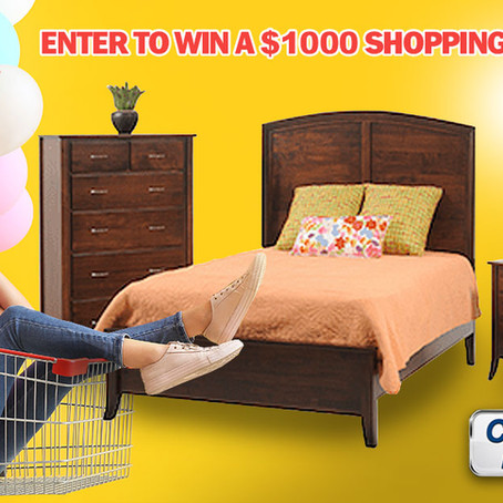 You could win our $1,000 shopping spree!