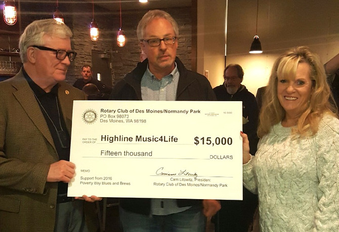 $15,000 Donation to Highline Music4Life