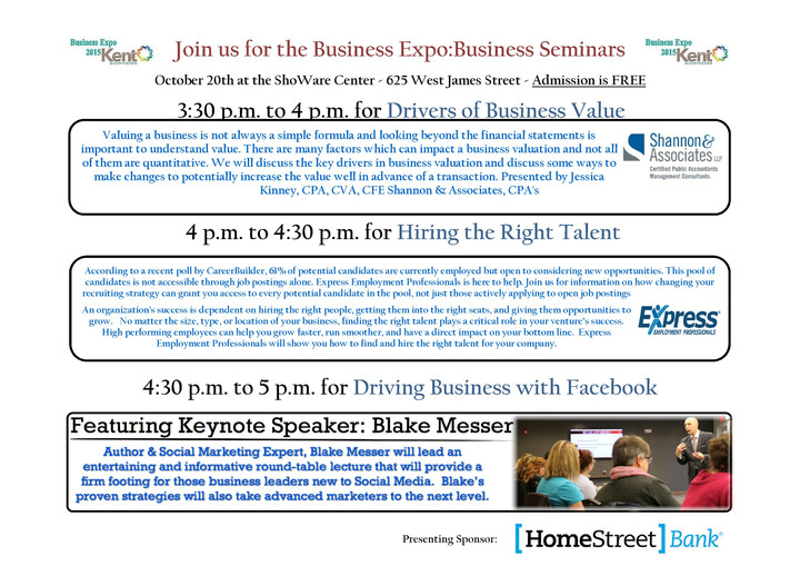 Business Expo at the ShoWare Center 10/20/15