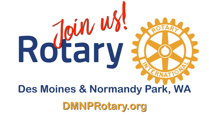 Join the Rotary Club of Des Moines & Normandy Park, WA