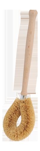 Kokosriekstu šķiedras birste ar kātu
