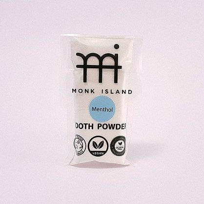 Monk Island zobu pulveris ar mentola garšu