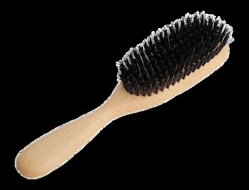 Ovāla matu suka ar meža cūkas sariem