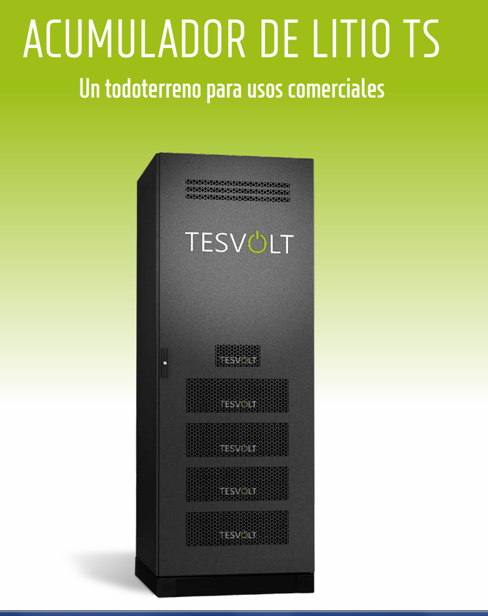 Tesvolt, La batería ideal para sistemas fotovoltaicos aislados.