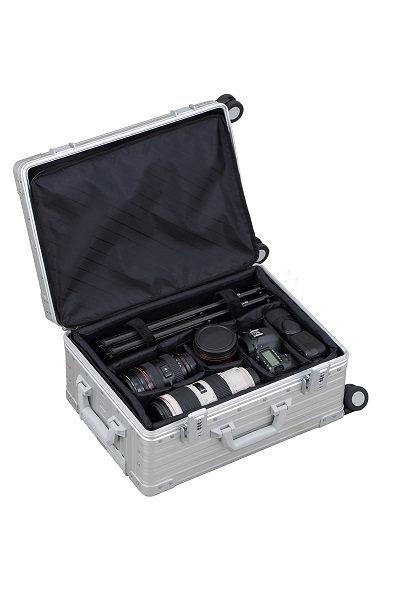 ALC-2122F カメラケース 機内持込可 ベアリングキャスター付 横開き仕様 543*373*232