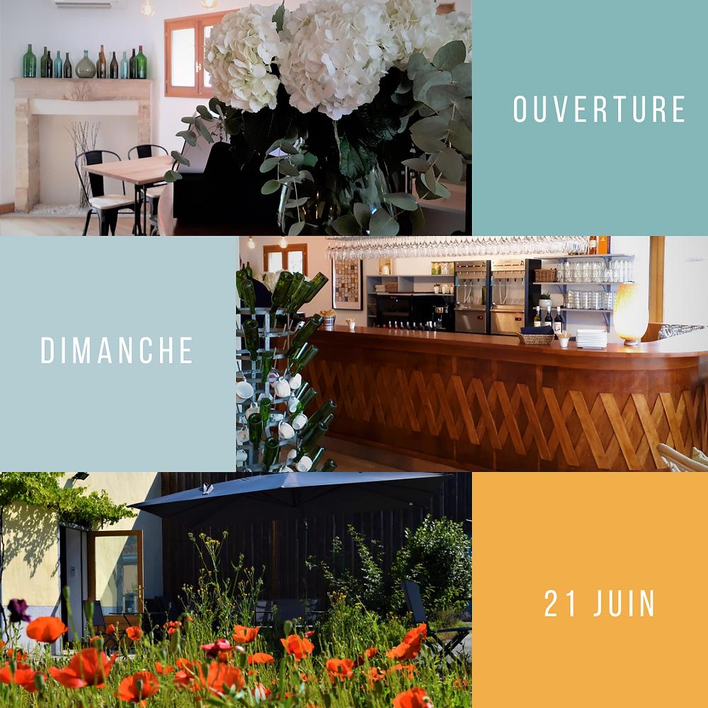 le  restaurant le wine bar margaux est ouvert ce dimanche 21 juin
