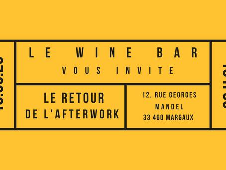 Le retour de l'Afterwork au Wine Bar Margaux