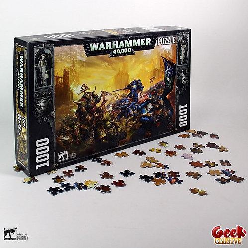 WARHAMMER 40K - Gulliman vs Black Legion - Puzzle 1000P 48x68cm