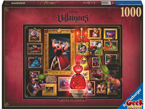 DISNEY - Puzzle Villainous 1000P - Queen of Hearts