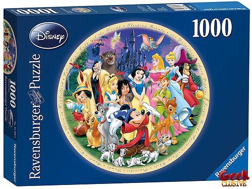 DISNEY - Puzzle 1000P - Wonderful World (Puzzle Rond)