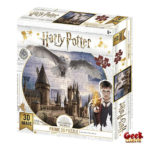 HARRY POTTER - Flying Over - Puzzle lenticulaire 3D 500P '61x46cm'