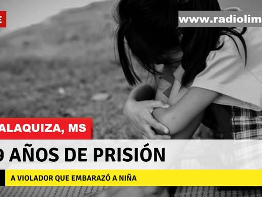 GUALAQUIZA:  19 AÑOS DE PRISIÓN PARA VIOLADOR DE NIÑA
