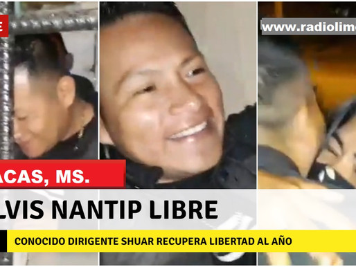 SUCÚA:  ELVIS NANTIP SALE EN LIBERTAD