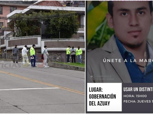 CUENCA:  REVELADA IDENTIDAD DE DEPORTISTA ASESINADO, FAMILIA PIDE JUSTICIA