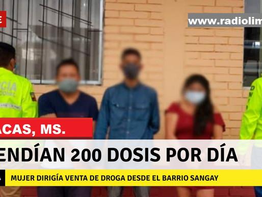 MACAS:  MUJER ERA CABECILLA EN FLORECIENTE NEGOCIO DE DROGA