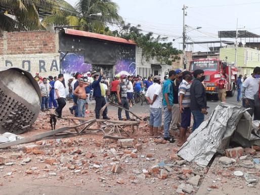VARIOS MUERTOS Y HERIDOS POR EXPLOSIÓN EN MANTA