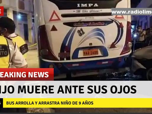 PADRE VE MORIR A SU HIJO ARROLLADO Y ARRASTRADO