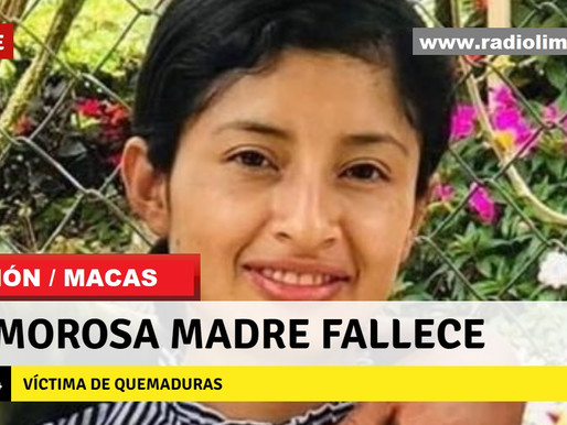MACAS/LIMÓN:  AMOROSA MADRE FALLECE VÍCTIMA DE QUEMADURAS
