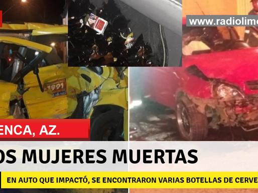 CUENCA:  CORSA CONDUCIDO POR ÉBRIO IMPACTA TAXI.  DOS JÓVENES MUERTAS