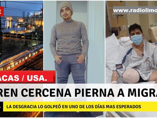 MACAS / USA:  AMPUTAN PIERNA A JOVEN MIGRANTE