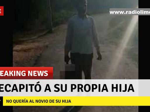 FURIOSO PADRE SE ENTREGA A LA POLICÍA CON CABEZA DE SU HIJA